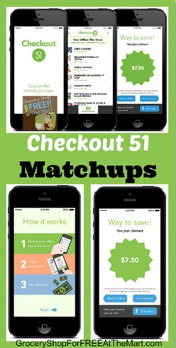 Checkout 51 Matchups are updated!  Great deals on Bananas, peanut butter, Texas Toast and more!