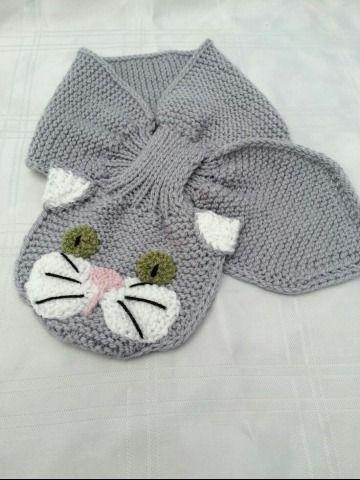 Bufandas para niños a crochet con sus animales favoritos  2360602ccff