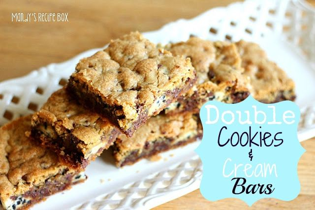 Cream Bar, 13X9 Recipes, Cookie Desserts Cer Bar, Double Cookies, Bar ...