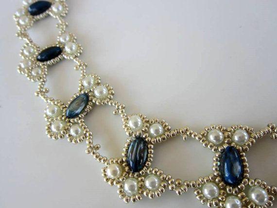 PDF Tutorial Spitze Perlen Halskette Samen Perlen von BeadsMadness