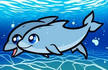 How to Draw Dolphins for Kids, Step by Step, Animals For Kids, For Kids, FREE Online Drawing Tutorial, Added by Dawn, October 15, 2011, 5:34:59 am