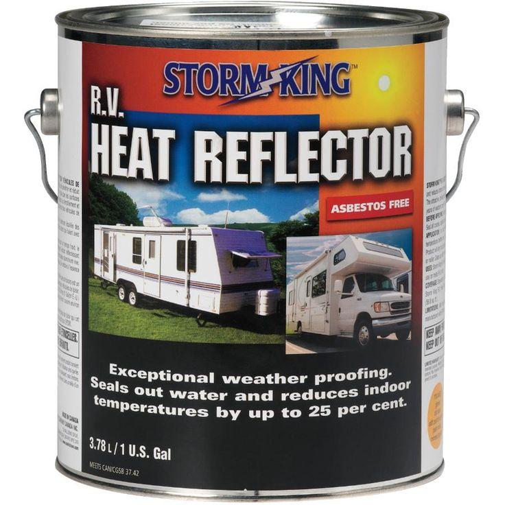 3.78L RV Heat Reflector Roof Coating Roof coating, Storm