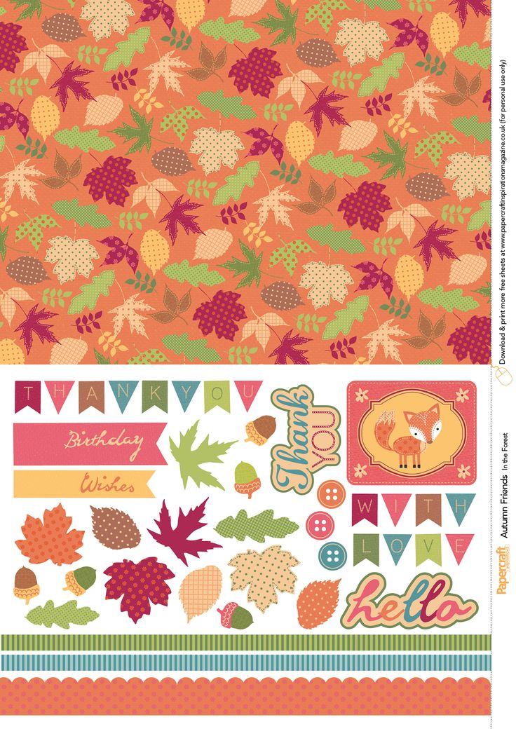 Free Card Making Printables Part - 26: Autumn Friends Free Printables From Papercraft Inspirations Issue 143