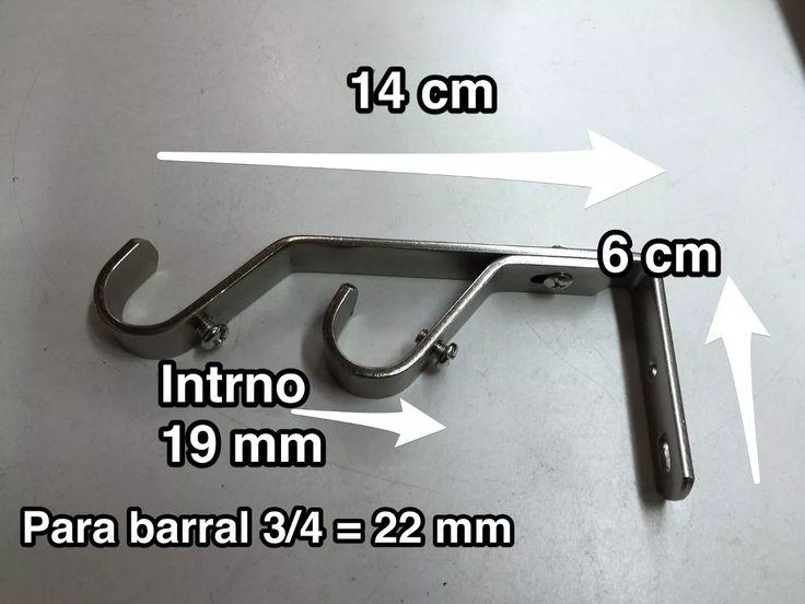 Soporte Doble Para Barral De Hierro 19mm. Puntera De Barral. - $ 150,00 en MercadoLibre