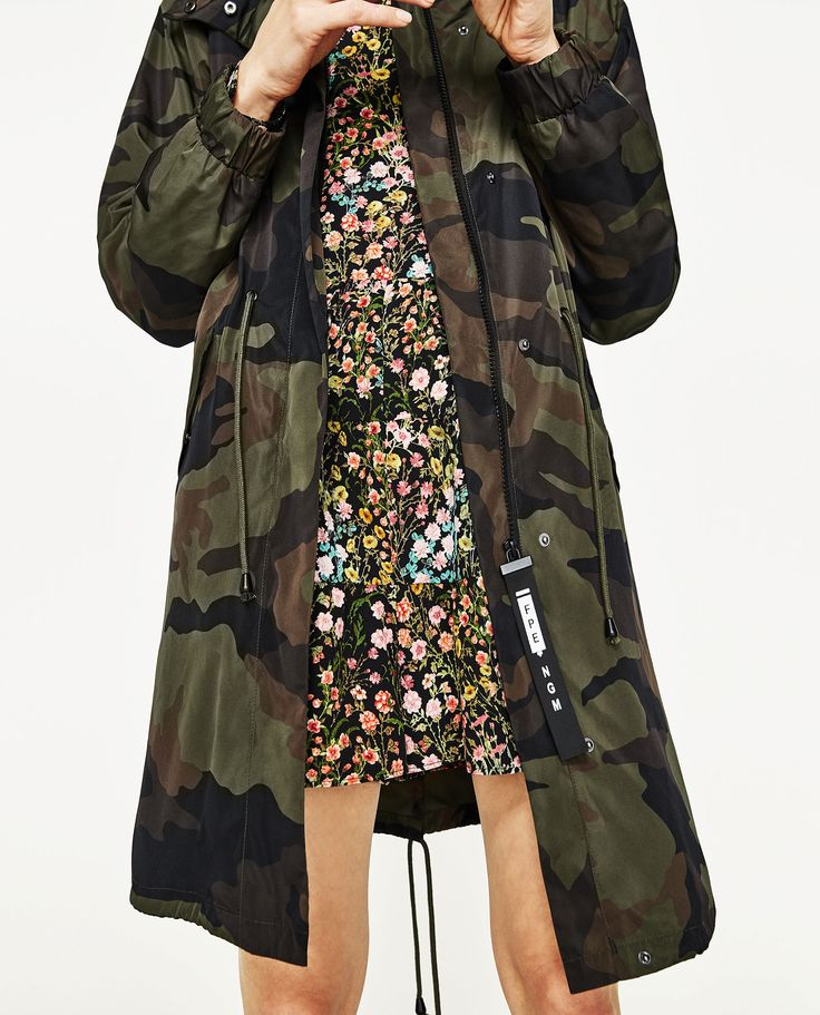 Image 4 of CAMOUFLAGE PRINT PARKA from Zara