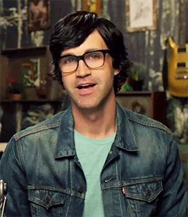 """Link couldn't help but really get into Rhett's saying of """"Good Mythical Morning"""" <3"""