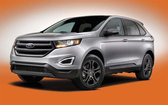 Download wallpapers Ford Edge, 4k, 2018 cars, crossovers, american cars, Ford