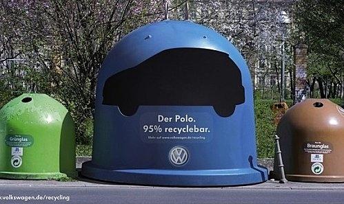Volkswagen, 95% recycled