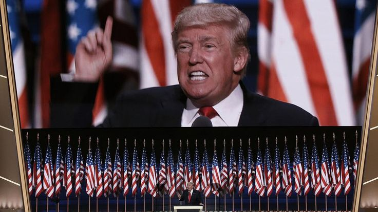 """Trump promete """"ley y orden"""" y ataca a Clinton en la investidura republicana a la presidencia de EEUU"""