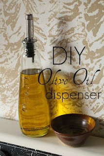 DIY Olive Oil dispenser with pourer spout