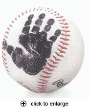 baby print on baseball