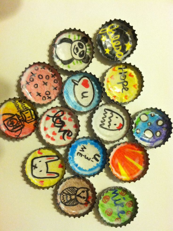 79 best bottle cap art images on pinterest bottle cap for How to make bottle cap crafts
