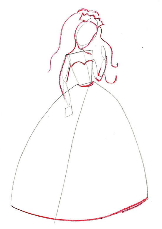Pinterest The World S Catalog Of Ideas How To Draw A Princess Dress Step By Step Printable