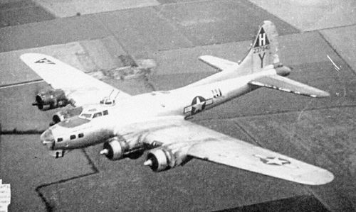 "Google Image Result for http://www.sandylydon.com/images/adv_co_001.jpg  B-17G, 42-37840, a ""Combined Operations"" in photo taken over England. Some panels are painted and some bare aluminum."