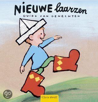 Guido van Genechten is vaak populair om voor te lezen. Leuke boekjes met dito verhalen. Dit boekje gaat over de nieuwe laarzen van Jan, en hoe blij hij daarmee is. Volgens de uitgever is hij geschikt voor kindjes vanaf 2 jaar, maar de meeste kindjes... #voorlezen #boekje #peuter #kleuter