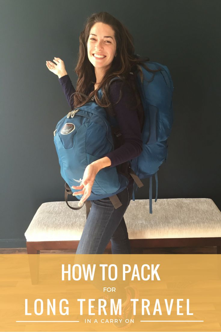 I've been nomadic for 18 months, I only pack in a carry on, and I'm female (it is possible!). This is my packing list and best tips for long term travel around the world. #packinglist #carryon #digitalnomad #longtermtravel #backpacker #rtwtravel