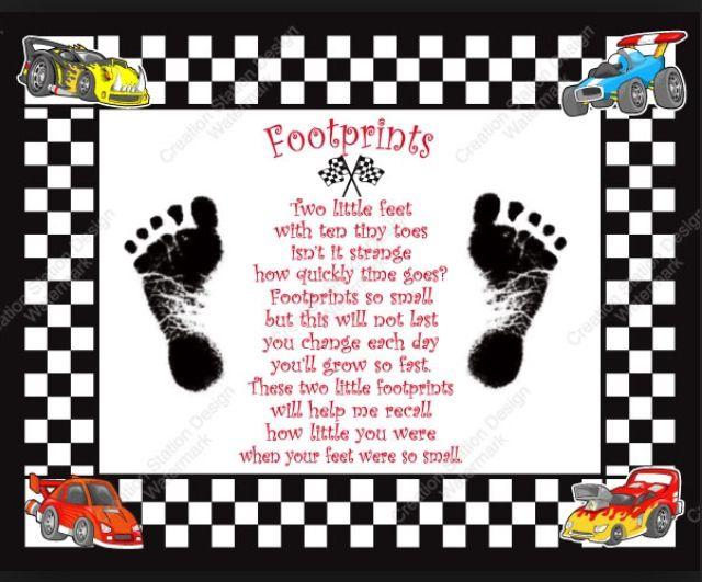 Race Car nursery poem