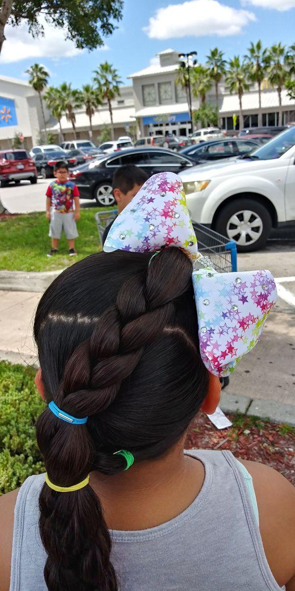 Braid Opposite Jojo Bow Jojo Bows Hair Styles Braids