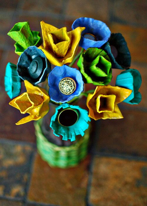 99 best egg carton craft ideas images on pinterest Egg carton flowers ideas