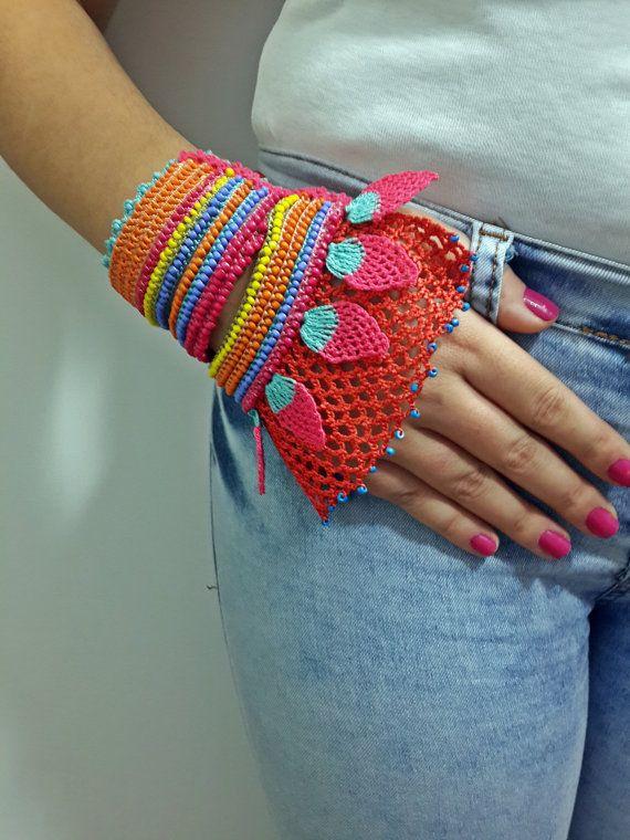 10 Best Knitting Bracelet Images On Pinterest Crochet Bracelet