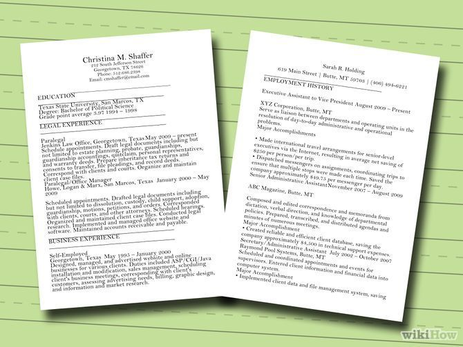 Wikihow Article That Breaks Down The Different Sections Of A Cv Or Resume To Make It Easier To Write Writing A Cv How To Make Resume Resume Examples