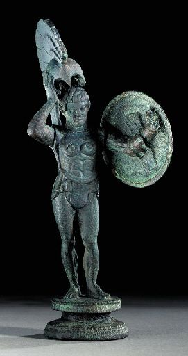 AN ETRUSCAN BRONZE WARRIOR CIRCA 450-400 B.C. Price Realized at Christie's $58,000      $58,750
