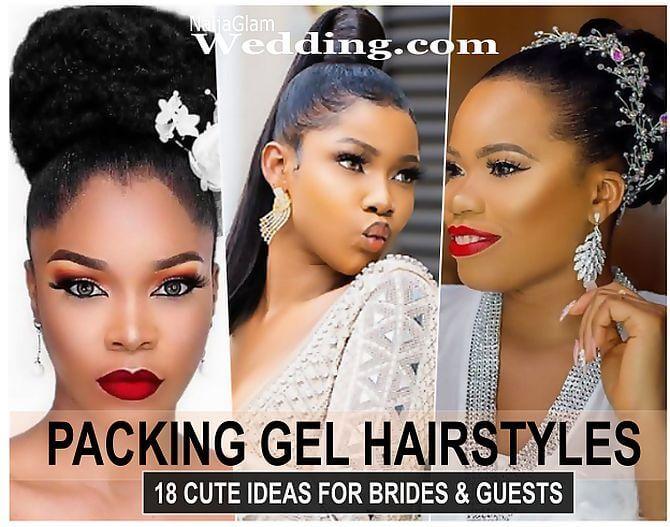 18 Cute Packing Gel Ponytail Hairstyles For Occasions Photos Naijaglamwedding Hair Gel Styling Gel African Hair Types
