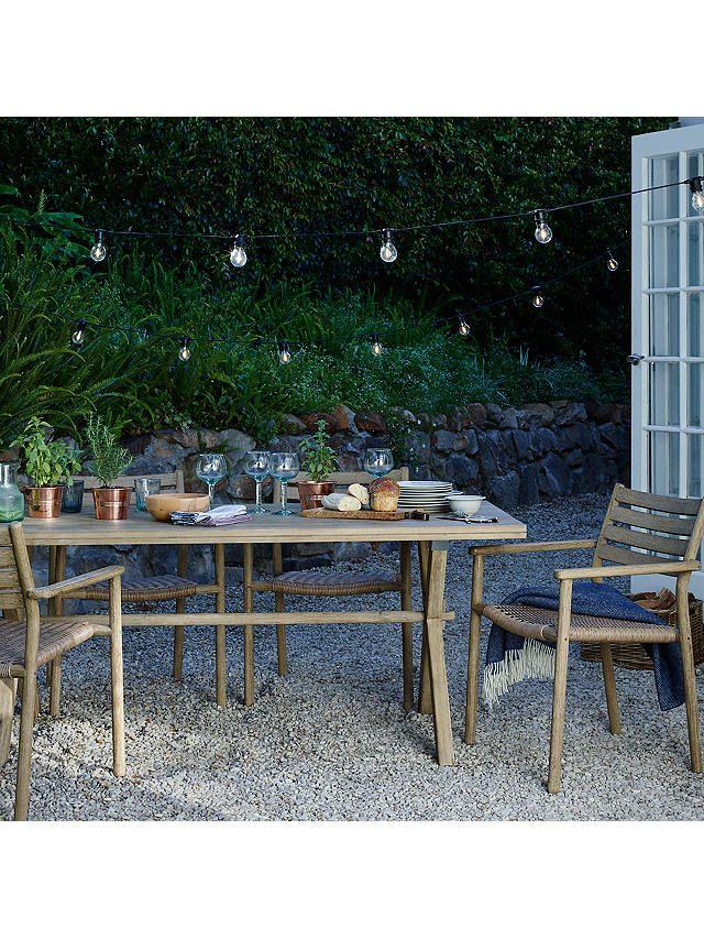 John Lewis Partners Festoon Outdoor Line Lights Multi Garden