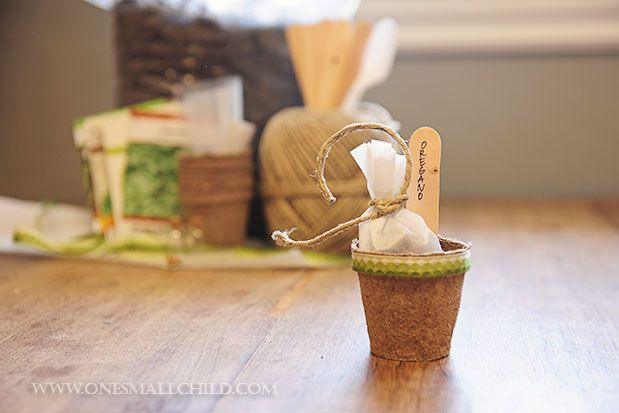 DIY Christening Party Favors: Herb Pots