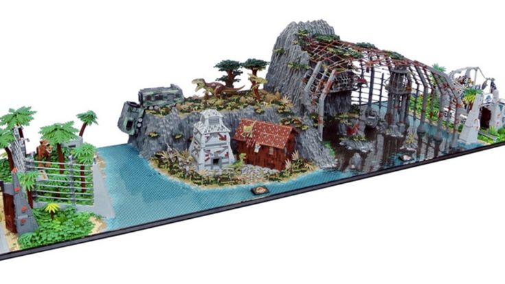 Now that Lego actually makes official Jurassic World sets, it's easier than ever to recreate Isla Nublar in brick form. But two amazing fans went one step further and mashed up all four Jurassic movies into a single display set—and it looks fantastic.
