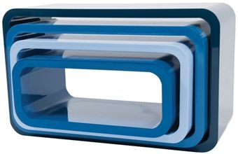 Sebra Bokhylle Oval 4-Pack Ocean Blue | Innredning På veggen | Jollyroom