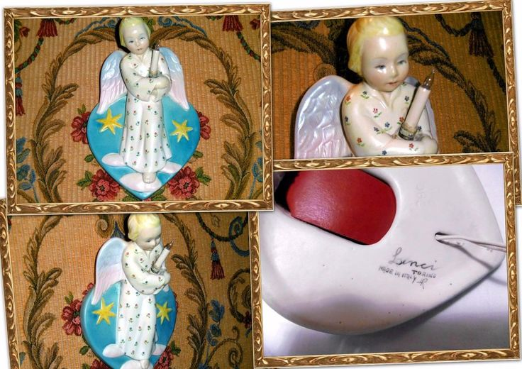 LENCI raro Angelo da Parete firma A R Ceramica Lenci Antonio Ronzan Torino