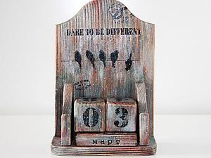 Мастер-класс: вечный календарь в стиле «лофт» - Ярмарка Мастеров - ручная работа, handmade