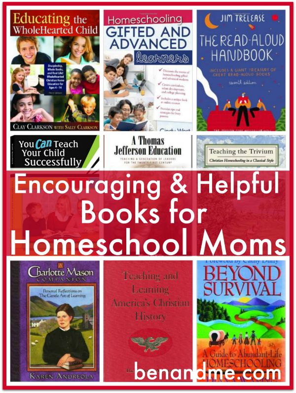 Encouraging and Helpful Books for Homeschool Moms