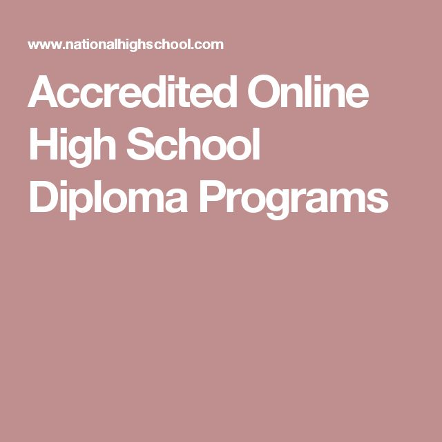 Accredited Online High School Diploma Programs