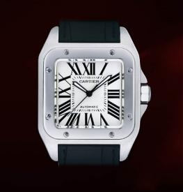 Used Cartier Santos Mens Designer steel Swiss Watch
