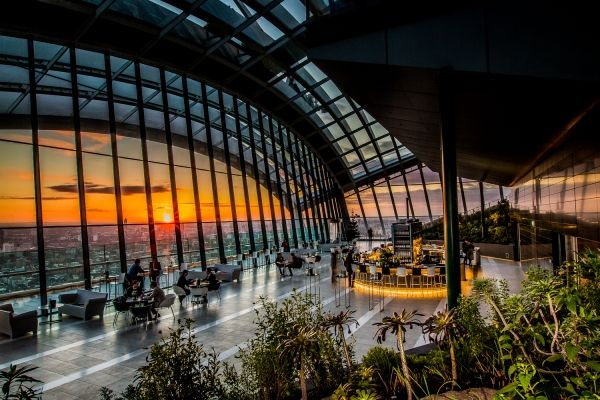 Sky Garden bar and restaurant - level 37, 20 Fenchurch Street London EC3M 3BY
