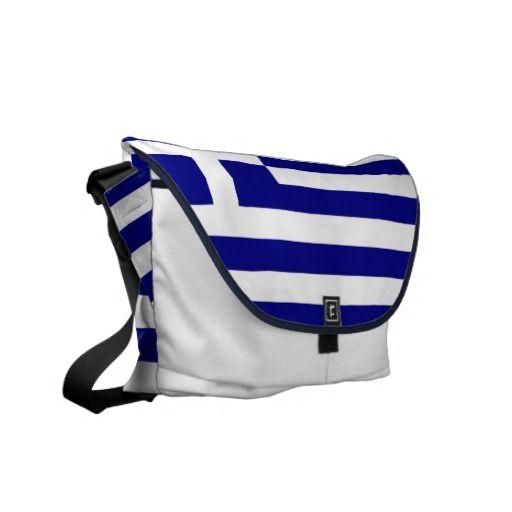 Greek Flag Rickshaw Messenger Bag