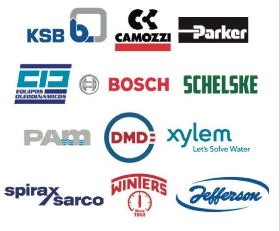 ¡Nuestras marcas!#somosduoflow #ksb #camozzi #parker #bosch #schelske #pam #xylem #spiraxsarco #winters #jefferson #marcas #brands #dealers #distruidores #buenosaires #argentina