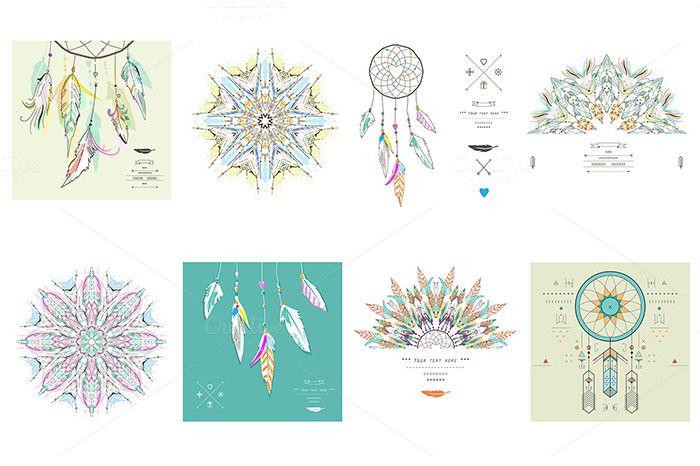 Dream Catcher set by Lera Efremova on Creative Market