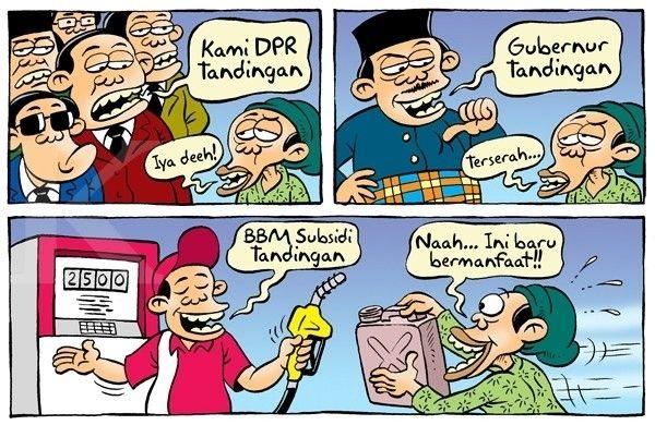 Kartun Benny, Kontan Desember 2014: Benny Rachmadi - Mimpi SPBU Tandingan