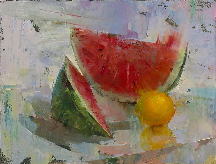 Ignat Ignatov     Still Life with Watermelon, 14x18, Oil
