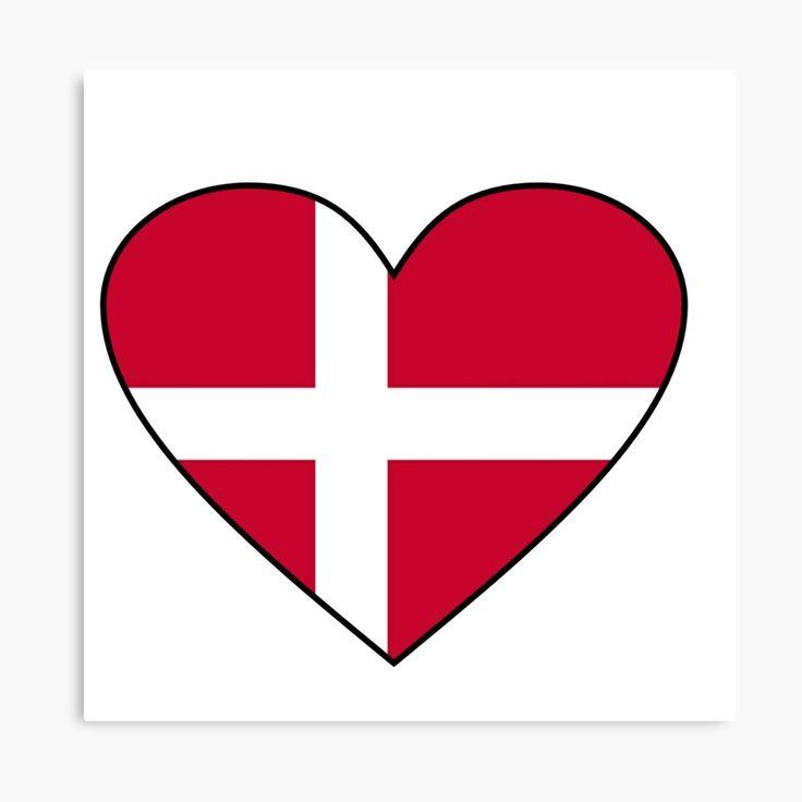 Denmark Flag Danish Flag Love Denmark Heart Flag Dannebrog Gifts By Gracetee Redbubble Denmark Flag Danish Flag Danish Gift