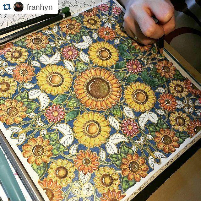 Que perfeição by @franhyn #jardimsecreto #desenhoscolorir #secretgarden #johannabasford