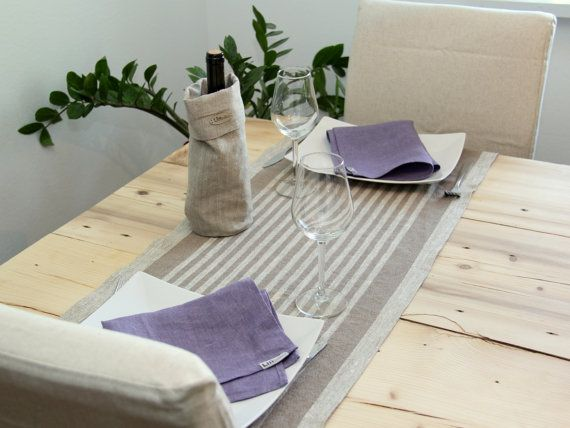 Linen runner by lininline on Etsy