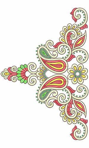 Motif Bridal Embroidery | Adora | Neck | Yoke | Jalabiya | Galabiya