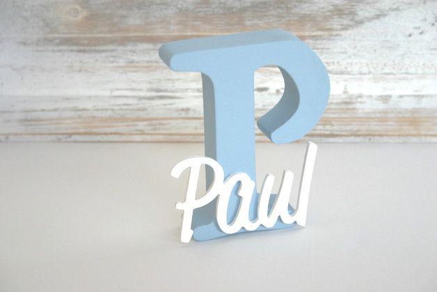 Wunderschöne selbst gestaltete Buchstaben zum Aufstellen auf Regal oder Kommode etc..  Dicke: 2,5 cm Höhe: 15-18 cm   ACHTUNG: Ich stelle hier nur Beispiele bzgl. der Bemalung vor. Bitte vor...