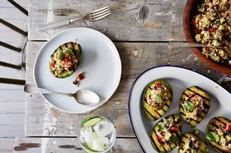 Grilled Avocado Halves with Cumin-Spiced Quinoa and Black Bean Salad Recipe on Food52 recipe on Food52