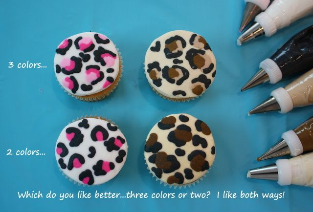 How To Make #Leopard Print Cupcakes