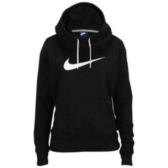 SOLD-100% authentic Nike funnel neck hoodie Worn twice, basically new, not available in stores they quit selling them and are pretty hard to come by Nike Sweaters Cowl & Turtlenecks